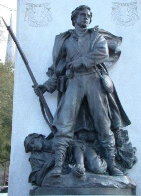 Confederate Soldiers Monument Sculpture image. Click for full size.