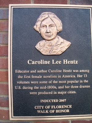 Caroline Lee Hentz Marker image. Click for full size.