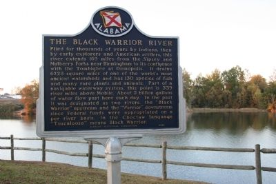 The Black Warrior River Marker image. Click for full size.