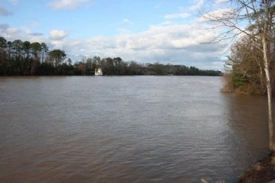 Upriver view of the Black Warrior River image. Click for full size.