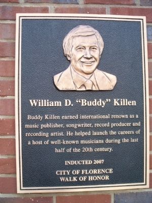 "William D. ""Buddy"" Killen Marker image. Click for full size."
