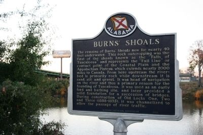 Burns' Shoals Marker image. Click for full size.