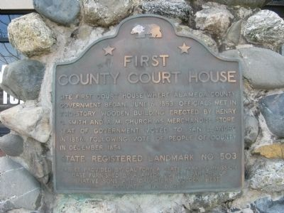First County Courthouse Marker image. Click for full size.