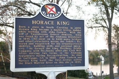 Horace King Marker image. Click for full size.