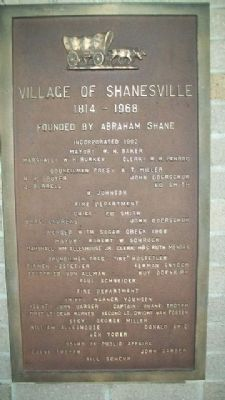 Village of Shanesville Marker image. Click for full size.