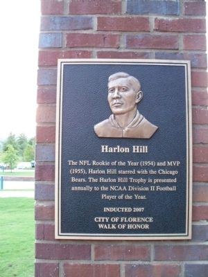 Harlon Hill Marker image. Click for full size.