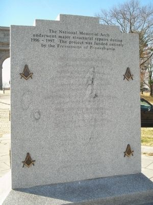 Back of Freemasons Marker image. Click for full size.
