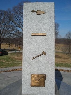Right Side of Freemasons of Penna Monument image. Click for full size.