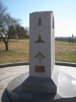 Left Side of Freemasons of Penna Monument image. Click for full size.