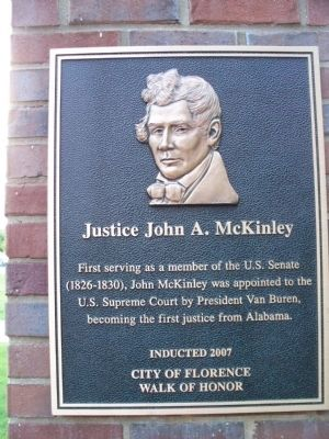 Justice John A. McKinley Marker image. Click for full size.