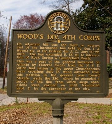 Wood's Div. 4th Corps Marker image. Click for full size.