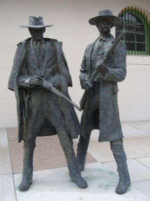 "Wyatt Earp and ""Doc"" Sculpture image. Click for full size."