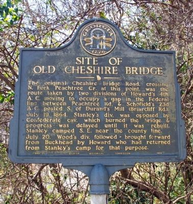 Site of Old Cheshire Bridge Marker image. Click for full size.