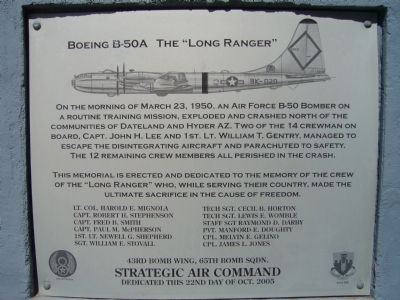 "Boeing B-50A The ""Long Ranger"" Marker image. Click for full size."