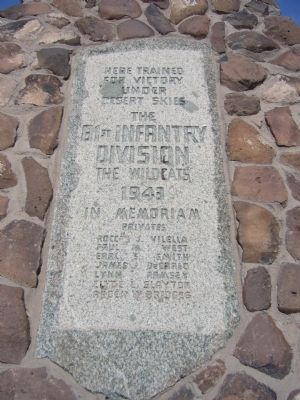 The 81st Infantry Division Marker image. Click for full size.