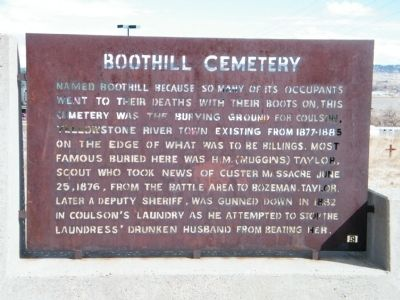 Boothill Cemetery Marker image. Click for full size.