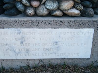 Boothill Cemetery monument - close up #1 image. Click for full size.