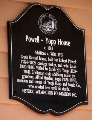 Powell – Yopp House Marker image. Click for full size.