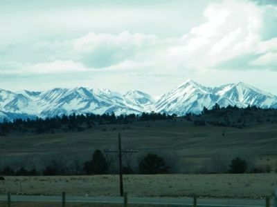 The Crazy Mountains across the plains image. Click for full size.