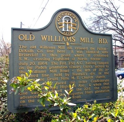 Old Williams Mill Rd. Marker image. Click for full size.