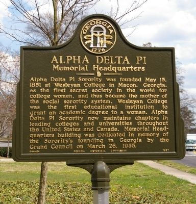 Alpha Delta Pi Marker image. Click for full size.