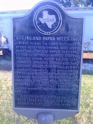Southland Paper Mills, Inc. Marker image. Click for full size.