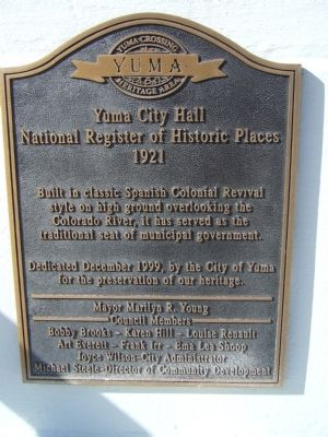 Yuma City Hall Marker image. Click for full size.