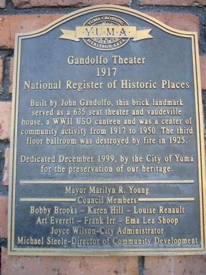 Gandolfo Theater Marker image. Click for full size.