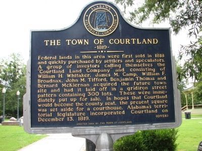 The Town of Courtland Marker - Side A image. Click for full size.