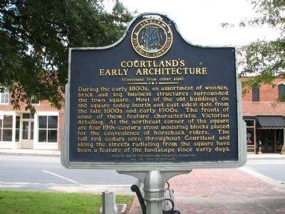 Courtland's Early Architecture Marker - Side B image. Click for full size.