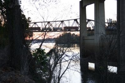 The M & O Railroad Trestle Over The River View image. Click for full size.