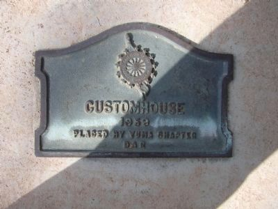 Customs House Marker image. Click for full size.