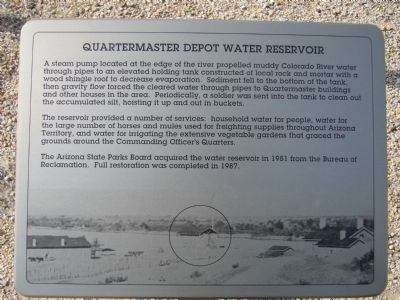 Quartermaster Depot Water Reservoir Marker image. Click for full size.