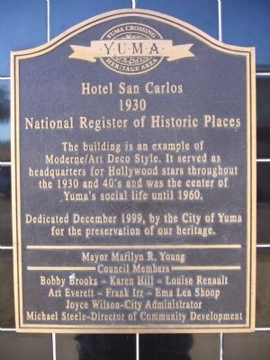 Hotel San Carlos Marker image. Click for full size.