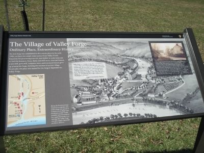 The Village of Valley Forge Marker image. Click for full size.