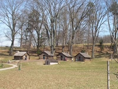 Soldier Huts in Valley Forge image. Click for full size.