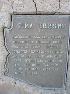 Yuma Crossing Marker image. Click for full size.