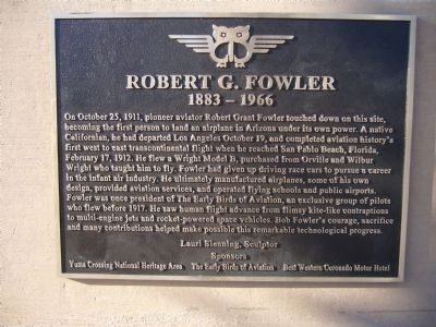Robert G. Fowler Marker image. Click for full size.
