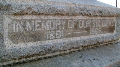 Ada Civil War Memorial Detail image. Click for full size.