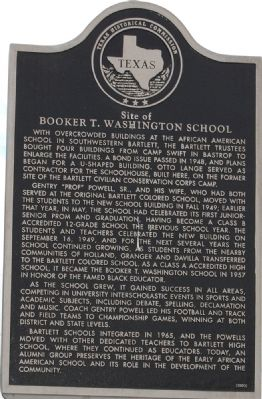Site of Booker T. Washington School Marker image. Click for full size.