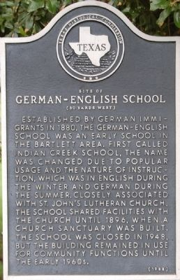 Site of German-English School Marker image. Click for full size.