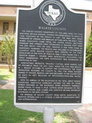 Walker County Marker image. Click for full size.