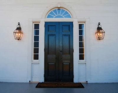 Kilgore-Lewis House -<br>Entrance Detail image. Click for full size.