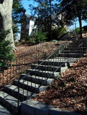 Stairs Leading from Kilgore-Lewis<br>House to Terrace Gardens image. Click for full size.