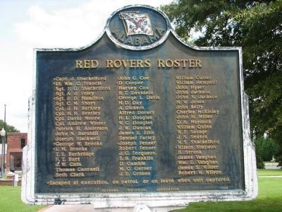 Red Rovers Roster - Side B image. Click for full size.