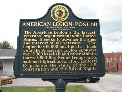 American Legion -Post 58 Marker - Side B image. Click for full size.