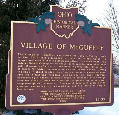 Village of McGuffey Marker (Side A) image. Click for full size.