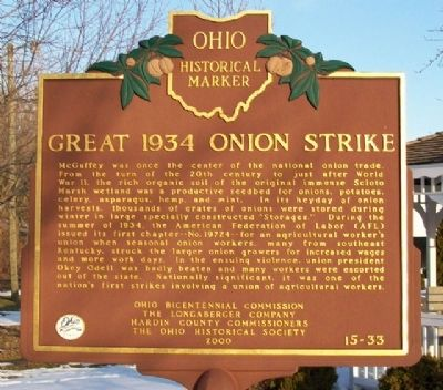 Great 1934 Onion Strike Marker (Side B) image. Click for full size.