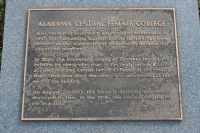 Alabama Central Female College Marker image. Click for full size.