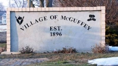 Village of McGuffey Sign at Park image. Click for full size.